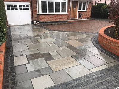 garden patio installers in Aston End