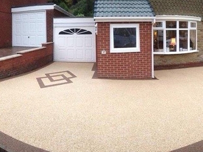 Sheering resin bound driveways